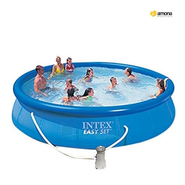 Pripučiamas Baseinas INTEX Easy Set su vandens valymo pompa, 457 x 84 cm Paveikslėlis 1 iš 1 310820041023