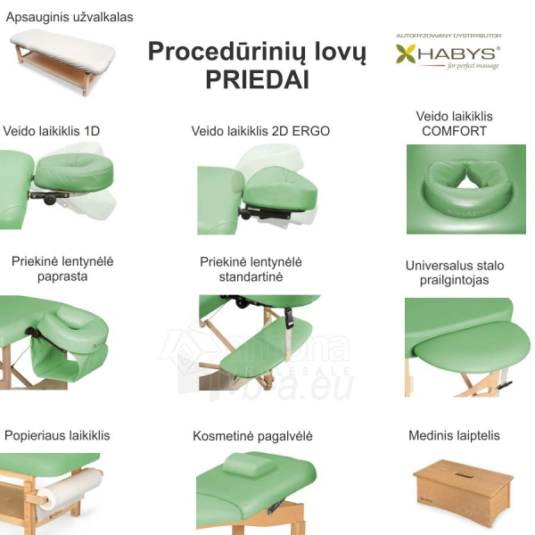 Procedūrinė lova Habys Primo WF Lime Paveikslėlis 2 iš 2 310820200006