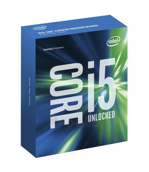 Procesorius Intel Core i5-6600K, Quad Core, 3.50GHz, 6MB, LGA1151, 14nm, 95W, VGA, TRAY Paveikslėlis 1 iš 1 310820015892