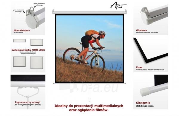 Projektoriaus ekranas ART manual display semi-automat 4:3 120 244x183cm MS-120 4:3 Paveikslėlis 10 iš 11 310820101802