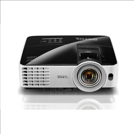 BenQ MX631ST XGA/4:3/1024x768/3200Lm/13000:1/Zoom 1.2x/3D/Lamp 4500-10000h/VGA,HDMI,USB,RCA,RS232,S-Video,Audio in-out/2.6kg/Speaker 10W/Lamp 196W/Black-White Paveikslėlis 1 iš 1 310820003676