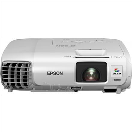 Epson EB-98H 3LCD XGA /4:3/1024x768/3000Lm/10000:1/Zoom 1.2x/Lamp 5000-10000h/VGA,HDMI,USB Display,LAN,WiFi via optional dongle,S-Video,RS232,Audio in-out/2.7kg/Speaker 16W/White Paveikslėlis 1 iš 1 310820003689