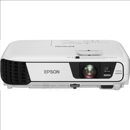 Epson EB-W31 3LCD WXGA/16:10/1280x800/3200Lm/15000:1/Zoom 1.2x/Lamp 5000-10000h/VGA,HDMI,USB Display,MHL,WLAN capable,sRGB,Audio in/2.4kg/Speaker 2W/Lamp 200W/White Paveikslėlis 1 iš 1 310820003805