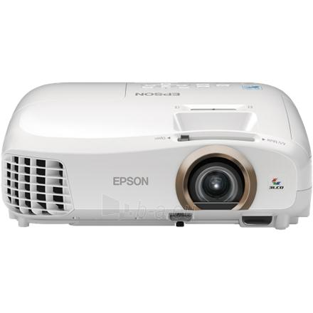 Epson EH-TW5350 3LCD FullHD/16:9/1920x1080/2200 lm/35000:1/Zoom 1.2x/3D/Lamp 4000-7500h/VGA,HDMIx2,USB,Audio in-out,Wi-Fi Direct/3.1kg/Speaker 5W/White Paveikslėlis 1 iš 1 310820003666