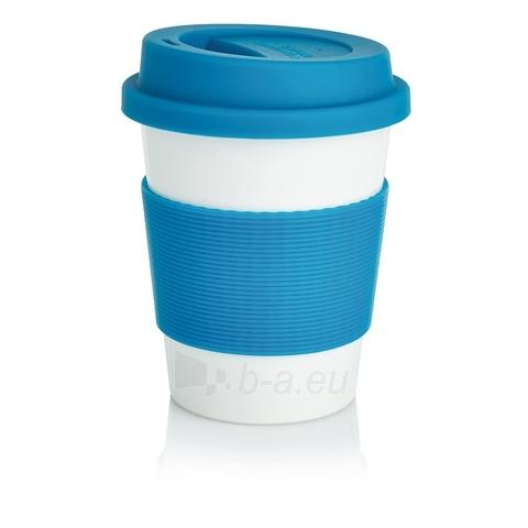 Puodelis kavai pagamintas iš perdirbtų medžiagų, mėlynas Paveikslėlis 1 iš 4 310820012690