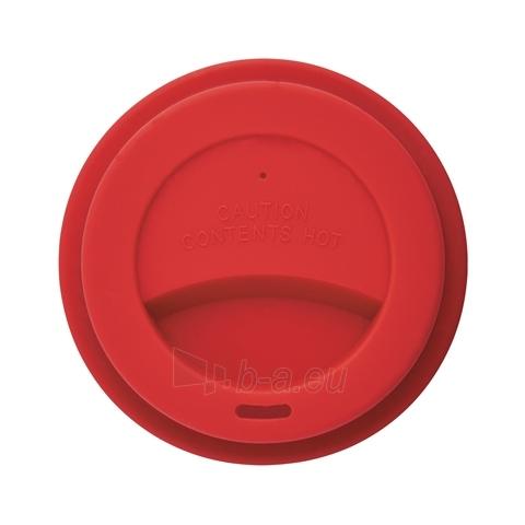 Puodelis kavai pagamintas iš perdirbtų medžiagų, raudonas Paveikslėlis 2 iš 4 310820012689
