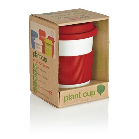 Puodelis kavai pagamintas iš perdirbtų medžiagų, raudonas Paveikslėlis 3 iš 4 310820012689
