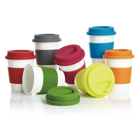 Puodelis kavai pagamintas iš perdirbtų medžiagų, raudonas Paveikslėlis 4 iš 4 310820012689
