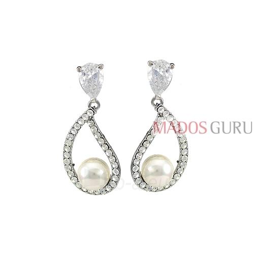 Decorated earrings A1041 Paveikslėlis 1 iš 2 30070002583