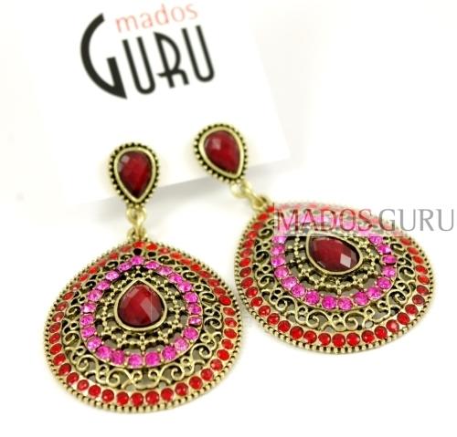 Decorated earrings A2400 Paveikslėlis 1 iš 1 30070002490