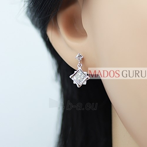 Decorated earrings A459 Paveikslėlis 2 iš 2 30070001941