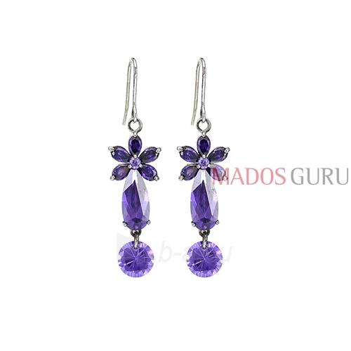 Decorated earrings A586 Paveikslėlis 1 iš 1 30070002477
