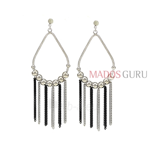 Decorated earrings A608 Paveikslėlis 1 iš 2 30070002441