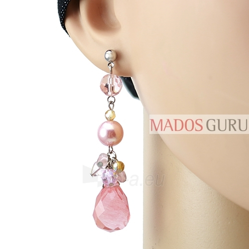 Decorated earrings A625 Paveikslėlis 2 iš 2 30070002448