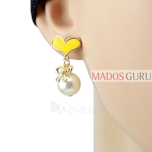 Decorated earrings A681 Paveikslėlis 2 iš 2 30070002458