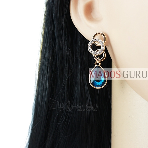 Decorated earrings A735 Paveikslėlis 2 iš 2 30070002437