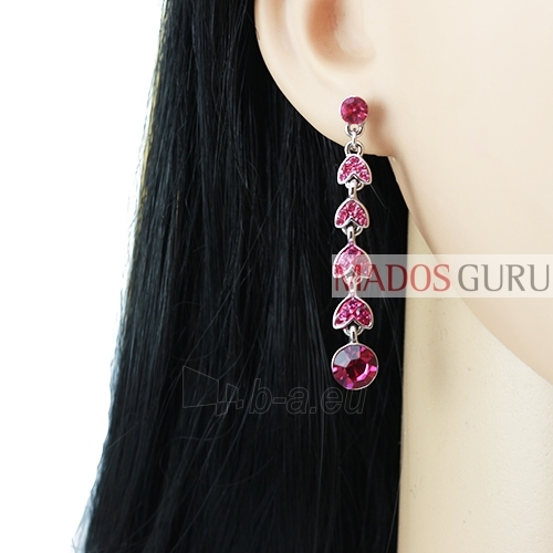 Decorated earrings A751 Paveikslėlis 2 iš 2 30070002411