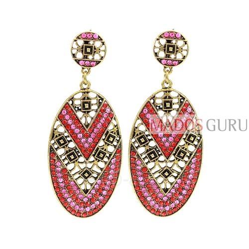 Decorated earrings A832 Paveikslėlis 1 iš 1 30070002502