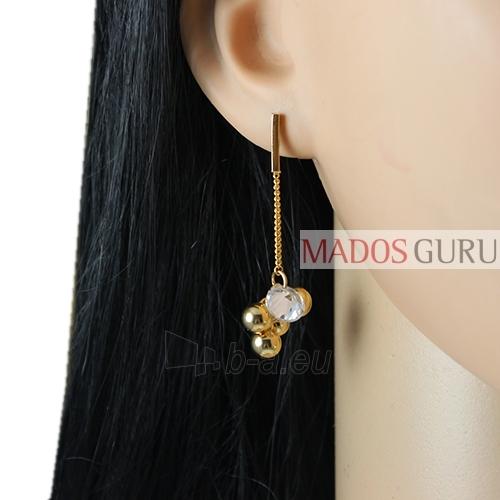 Decorated earrings A869 Paveikslėlis 2 iš 2 30070002504