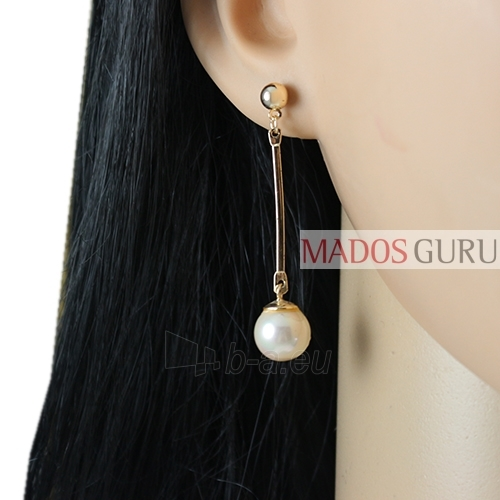 Decorated earrings A871 Paveikslėlis 2 iš 2 30070002506