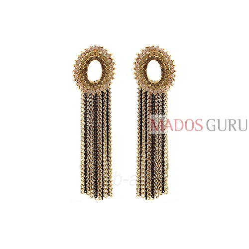 Decorated earrings A884 Paveikslėlis 1 iš 2 30070002516