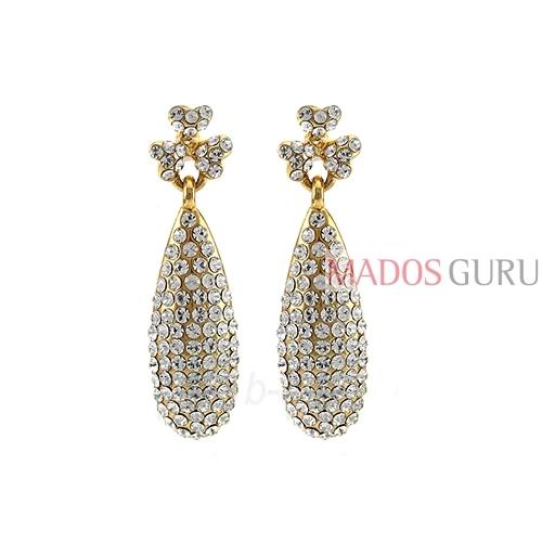 Decorated earrings A970 Paveikslėlis 1 iš 2 30070002558