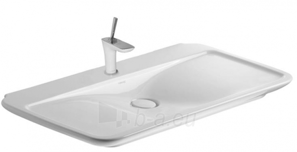 PuraVida praustuvas, montuojamas į baldą, 100x52.5 cm, baltas Paveikslėlis 1 iš 1 270711000927