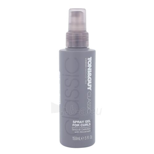 Purškiamas gelis plaukams Toni&Guy Classic Spray Gel For Curls Cosmetic 150ml Paveikslėlis 1 iš 1 310820045699