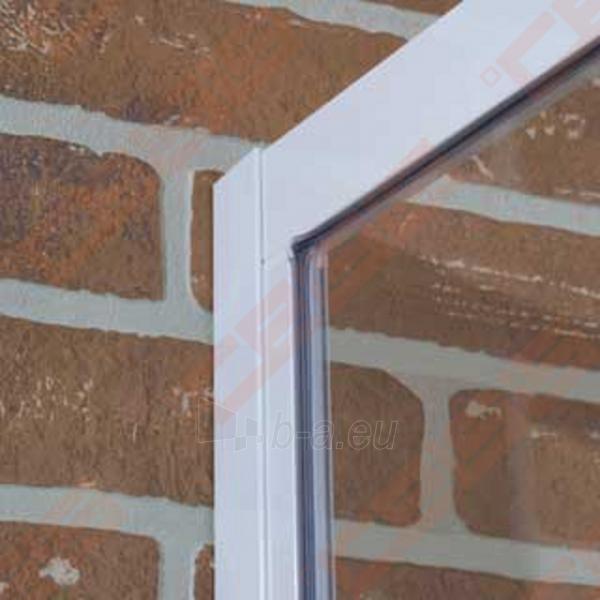Pusapvalė dušo kabina ROLTECHNIK CLASSIC LINE CR2/100 su dviejų elementų slankiojančiomis durimis,baltos spalvos profiliu ir plastiko užpildu Paveikslėlis 2 iš 4 270730001040