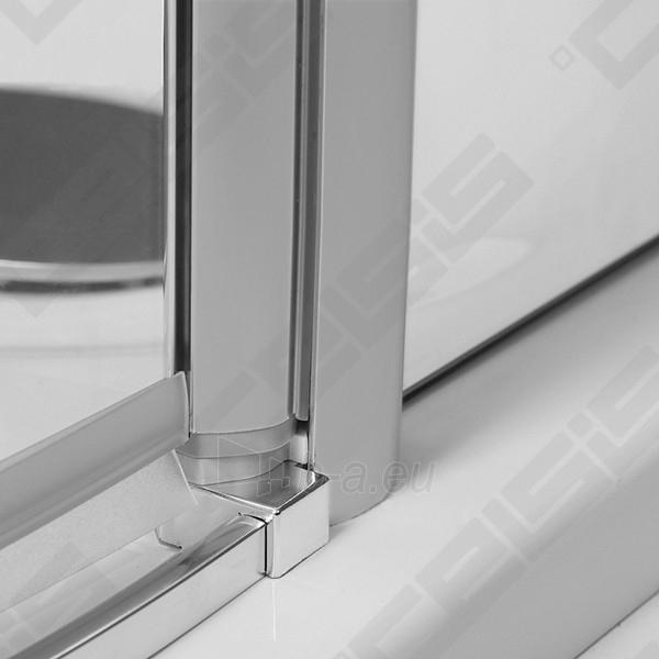Semicircural shower SANIPRO AUSTIN 90x90 su sidabro spalvos profiliu ir dekoruotu stiklu Paveikslėlis 5 iš 5 270730001044