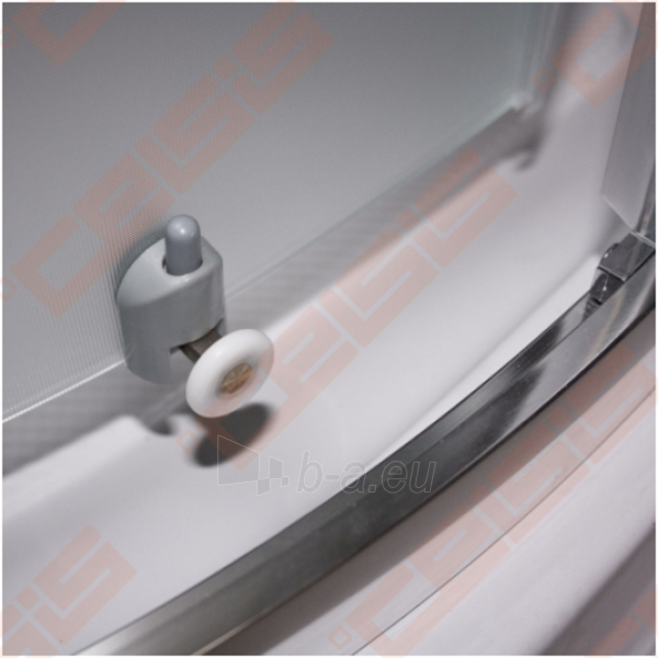 Pusapvalė dušo kabina SANIPRO FLOWER NEO 900 su dviejų elementų slankiojančiomis durimis bei brilliant spalvos profiliu ir dekoruotu stiklu Paveikslėlis 5 iš 5 270730001048