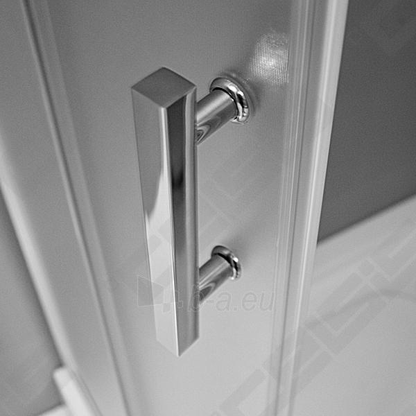 Pusapvalė dušo kabina SANIPRO HGRD2/900 su dviejų elementų slankiojančiomis durimis bei brilliant spalvos profiliu ir skaidriu stiklu Paveikslėlis 3 iš 5 270730001057