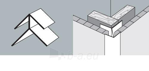 PVC dailylentės išorinis kampas 3 m, balta Paveikslėlis 1 iš 2 237714000556