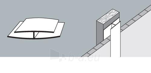 PVC dailylentės jungimo kampas 3 m, baltas Paveikslėlis 1 iš 2 237714000568