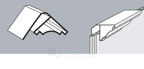 PVC dailylentės lubinis kampas 3 m, baltas Paveikslėlis 1 iš 2 237714000562