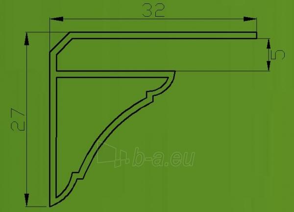 PVC dailylentės lubinis kampas 3 m, baltas Paveikslėlis 2 iš 2 237714000562