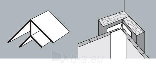PVC dailylentės vidinis kampas 3 m, balta Paveikslėlis 1 iš 2 237714000559