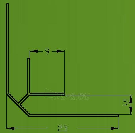 PVC dailylentės vidinis kampas 3 m, balta Paveikslėlis 2 iš 2 237714000559