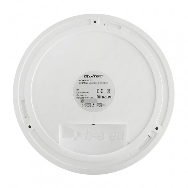 Qoltec 300Mbps Access Point Indoor Wall Mounted Ceiling Wireless Paveikslėlis 3 iš 5 310820009173