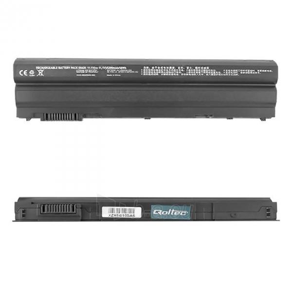 Qoltec Long Life Notebook Battery - Dell E6420 10.8-11.1V | 5200mAh Paveikslėlis 1 iš 2 310820005300