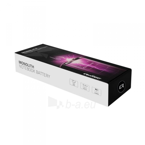 Qoltec Long Life Notebook Battery - Dell E6420 10.8-11.1V | 5200mAh Paveikslėlis 2 iš 2 310820005300