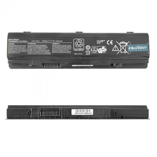 Qoltec Long Life Notebook Battery - Dell Vostro 1015 11.1V | 4400mA Paveikslėlis 1 iš 2 310820005299