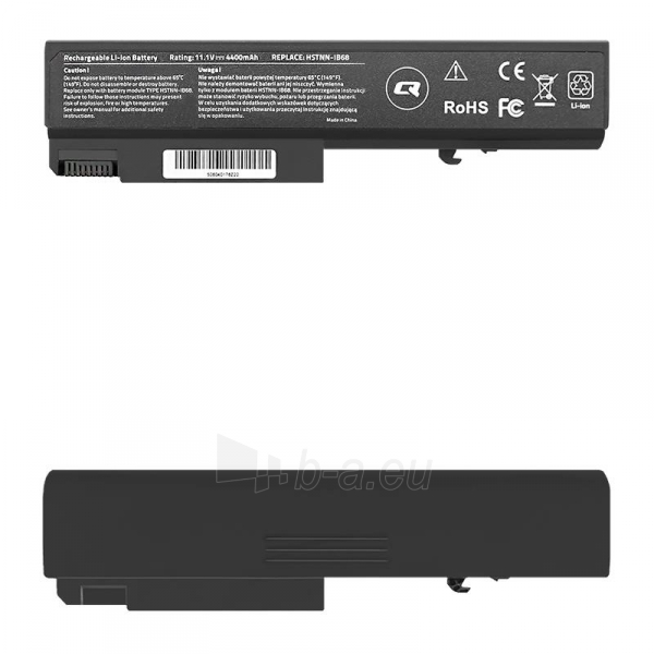Qoltec Long Life Notebook Battery - HP EliteBook 6930p | 4400mAh | 11.1V Paveikslėlis 1 iš 2 250254100742
