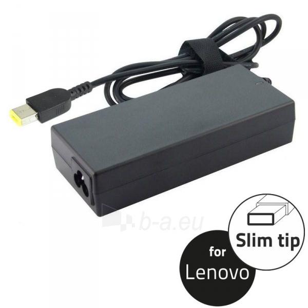 Qoltec Notebook Power Supply for Lenovo 65W | 20V | 3.25A | Slim tip Paveikslėlis 1 iš 2 250256401070