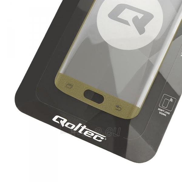 Qoltec Premium Tem. Glass ekrano apsauga for Sam.S7 edge   full cover   gold Paveikslėlis 1 iš 2 310820041050