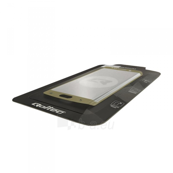 Qoltec Premium Tem. Glass ekrano apsauga for Sam.S7 edge   full cover   gold Paveikslėlis 2 iš 2 310820041050