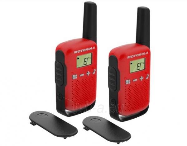 Racijos Motorola T42 short-wave radio, 4km, Red Paveikslėlis 1 iš 1 310820144839