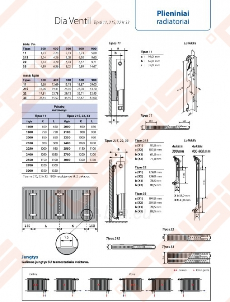 Radiatorius DIANORM 11_600x700 apatinis Paveikslėlis 3 iš 3 270622002102