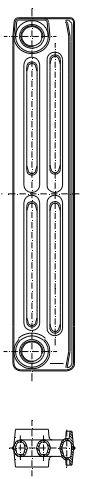 Radiatorius ketinis sekcijinis TERMO 500/95 (grunto spalva RAL7035) Paveikslėlis 1 iš 2 310820235996