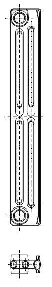 Radiatorius ketinis sekcijinis TERMO 623/95 (grunto spalva RAL7035) Paveikslėlis 1 iš 2 310820235998